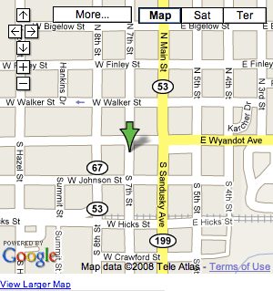 Google map of Wyandot County Museum